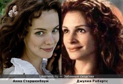 Анна Старшенбаум неожиданно похожа на Джулию Робертс