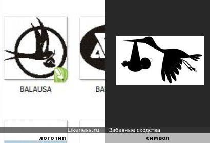 Казахский логотип (не знаю чего) похож на символ рождения.
