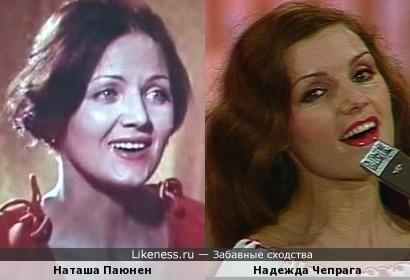 Н.Паюнен и Н.Чепрага похожи.