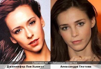 Издалека Глотова похожа на известную актрису.