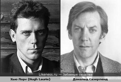Молодой Хью Лори (Hugh Laurie) и молодой Дональд Сазерленд (Donald Sutherland) похожи