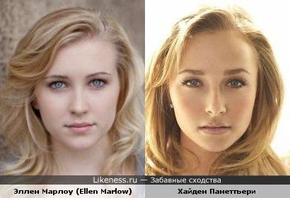 Эллен Марлоу (Ellen Marlow) и Хайден Панеттьери (Hayden Panettiere) очень похожи