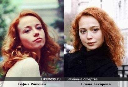Софья Райзман похожа на Елену Захарову