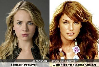 Бриттани Робертсон (Brittany Robertson) и Шеней Граймс (Shenae Grimes) похожи, не так ли?