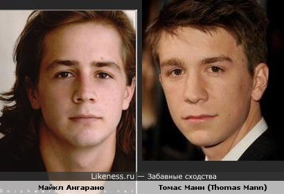 Майкл Ангарано(Michael Angarano) и Томас Манн (Thomas Mann) очень похожи.