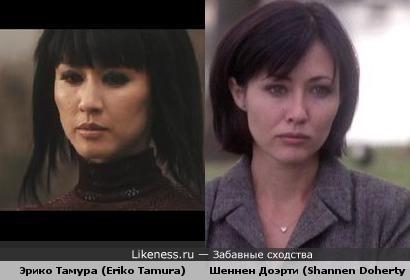Эрико Тамура (Eriko Tamura) чем-то похожа на Шеннен Доэрти (Shannen Doherty)
