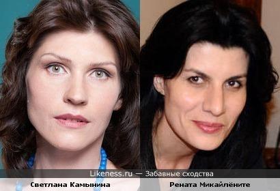 Светлана Камынина и Рената Микайлёните (Renata Mikailionytė) похожи