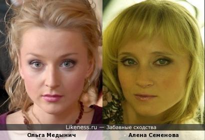 Словно сестренки Ольга Медынич и Алена Семенова