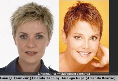 Аманда Таппинг (Amanda Tapping) и Аманда Бирс (Amanda Bearse)
