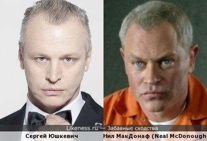 Сергей Юшкевич и Нил МакДонаф (Neal McDonough)