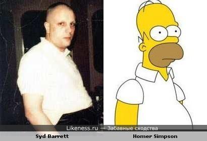 Сид Барретт похож на Гомера Симпсона