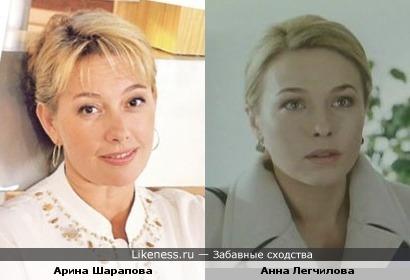 Арина Шарапова и Анна Легчилова