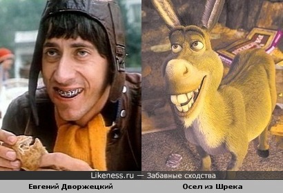 Евгений Дворжецкий и Осёл из Шрека