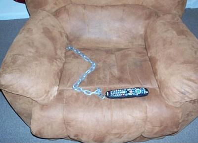 Пульт от телевизора на цепи