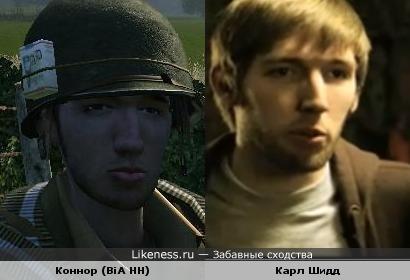 Коннор из игры Brothers in Arms похож на Карла Шидда