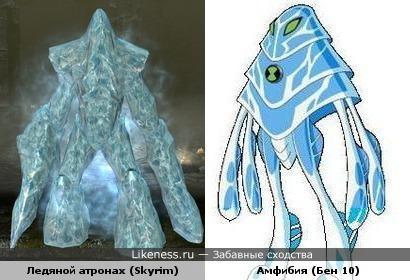 Ледяной атронах похож на Амфибию из Бен 10