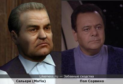 Дон Эннио Сальери из Mafia: The City of Lost Heaven очень похож на актёра Пола Сорвино