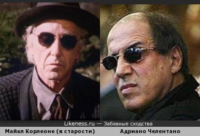 Пожилой Майкл Корлеоне напомнил Адриано Челентано