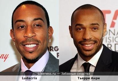Ludacris один в один похож на Тьерри Анри