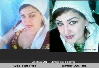 Сурайё Алимова похож на Шабнам Алимова
