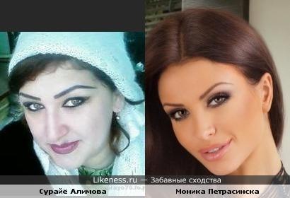 Сурайё Алимова похон на Моника Петрасинска
