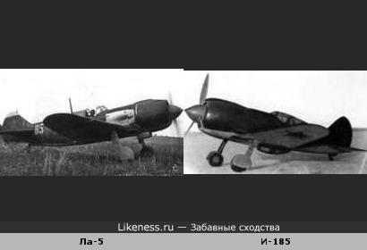 Конструкция. Кто у кого украл? Самолёт Лавочкина (слева) похож на самолёт Поликарпова.