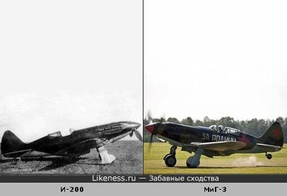 Конструкция. Кто у кого украл? Истребитель Поликарпова (слева) похож на истребитель Микояна