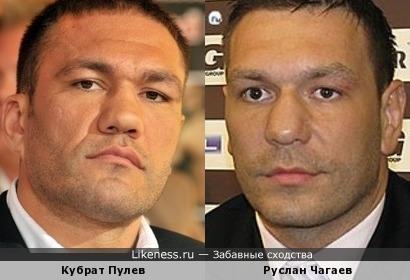 Кубрат Пулев похож на Руслана Чагаева