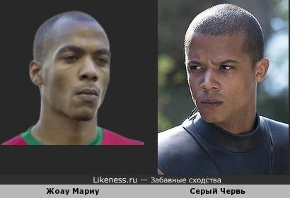 Футболист Жоау Мариу похож на Серого Червя из Игры престолов