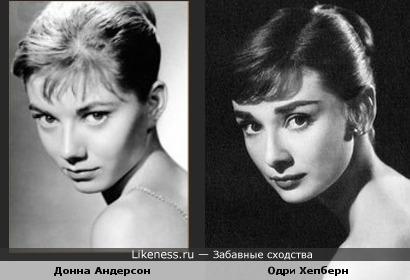 Донна Андерсон похожа на Одри Хепберн