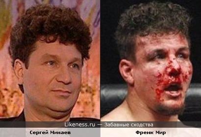 Сергей Минаев и Френк Мир