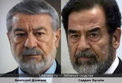 Анатолий Дзиваев и Саддам Хусейн