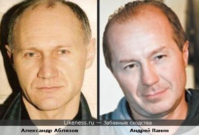 Александр Аблязов и Андрей Панин