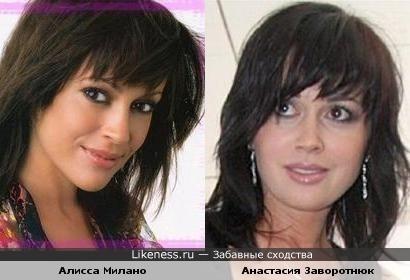 Алисса Милано и Анастасия Заворотнюк