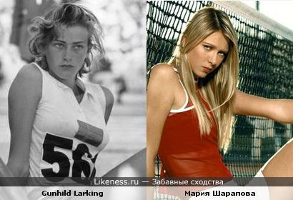 Шведская прыгунья в высоту Gunhild Larking и Мария Шарапова