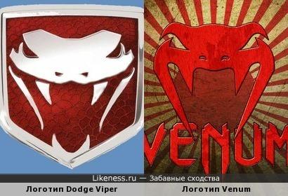 Логотип Dodge Viper и Логотип Venum