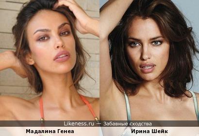 Мадалина Генеа и Ирина Шейк