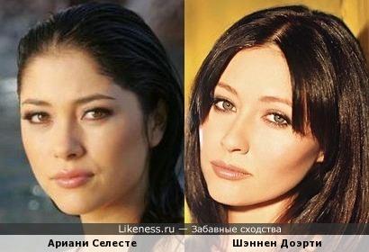 Ариани Селесте и Шэннен Доэрти