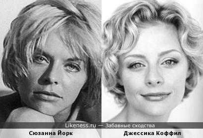 Сюзанна Йорк и Джессика Коффил