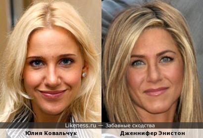 Юлия Ковальчук и Дженнифер Энистон