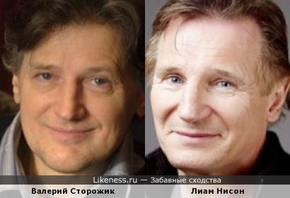 Валерий Сторожик и Лиам Нисон
