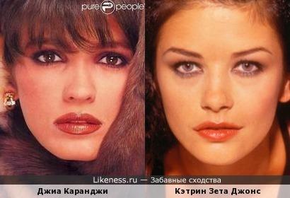 Джиа Каранджи и Кэтрин Зета Джонс