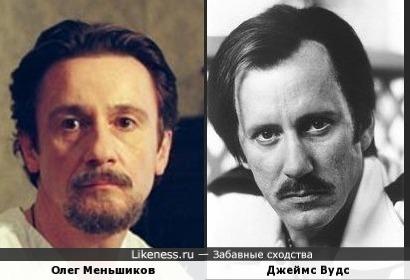 Олег Меньшиков и Джеймс Вудс