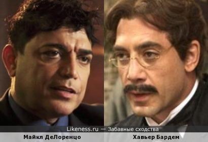 Хавьер Бардем и Майкл ДеЛоренцо