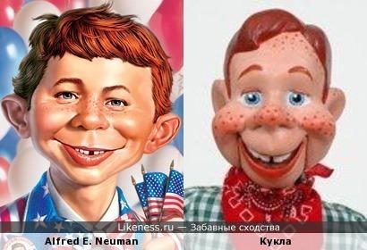 Alfred E. Neuman и кукла Баффало Боба
