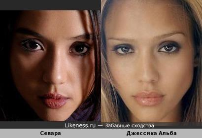 Севара и Джессика Альба