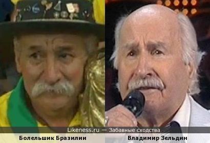 Болельшик Бразилии и Владимир Зельдин