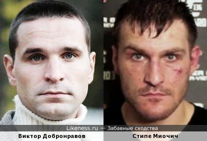 Стипе Миочич и Виктор Добронравов
