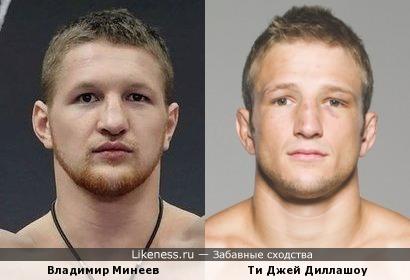 Владимир Минеев и Ти Джей Диллашоу