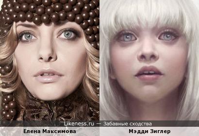 Елена Максимова и Мэдди Зиглер
